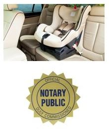 car seat and Notary pic